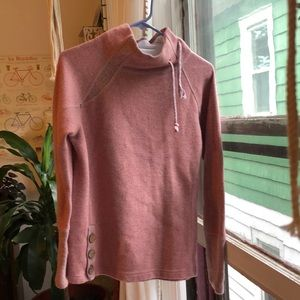 Pink and gray Prana sweater